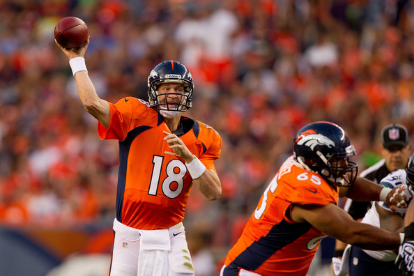 Peyton Manning against the Seattle Seahawks